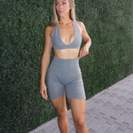 ON CHILL Grey Sports Bra