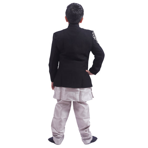 Indo Western Party Ocassion Dress For Boys Colour Black