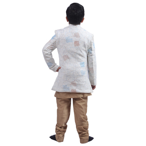 Indo Western Party Ocassion Dress For Boys Colour Ceam