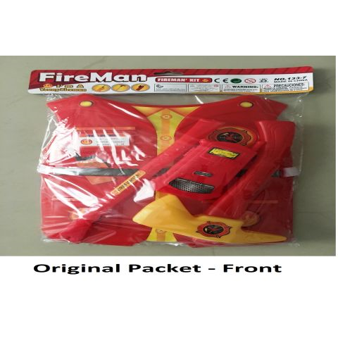 Plastic Role play vest for Kids- Fire Fighter, Red-2-7 Years