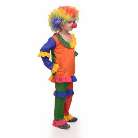Joker dress for boys and girls with Wig, Nose and Cap