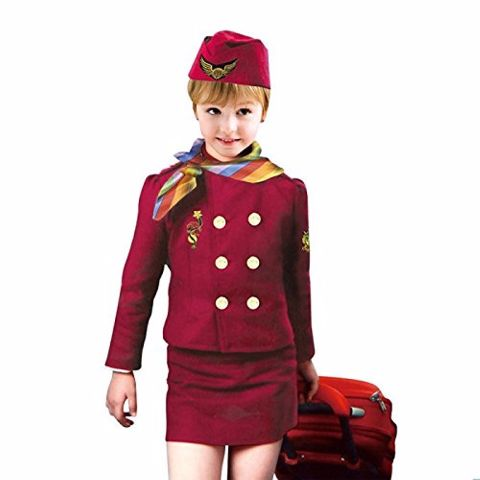 Air Hostess Costume Dress For Girls