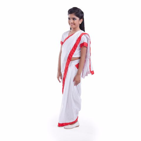 School Principal Saree Dress Costume For Girls