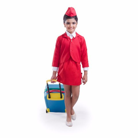 Air Hostess Costume For Girls
