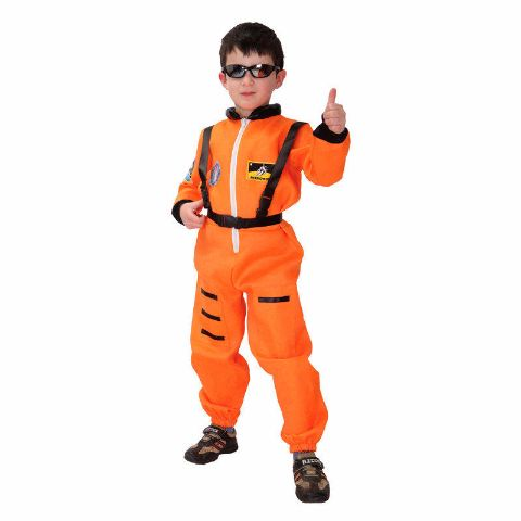 Kids Orange Astronaut Profession Cosplay outfit