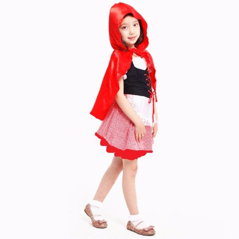 Little Red Riding Hood Costume Dress For Girls