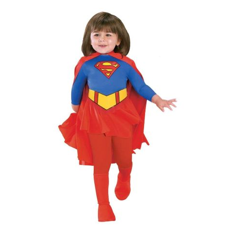 Supergirl Dress with Cape and Stocking