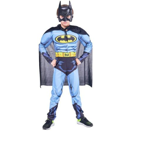 Batman Muscle dress for boys- Blue and Black