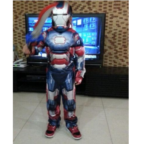 Ironman War Machine Muscle costume for Boys- Blue