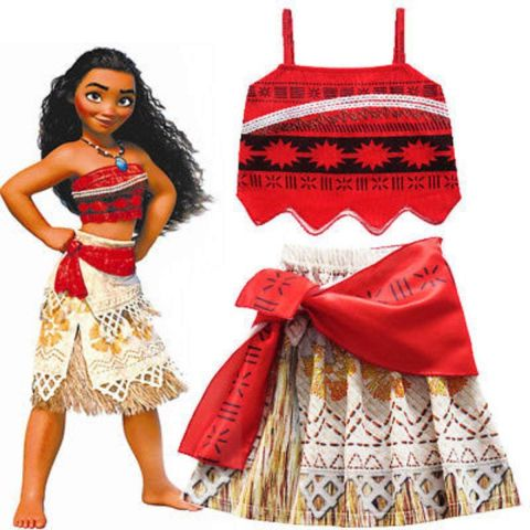 Princess Moana Costume with Magical Seashell Necklace