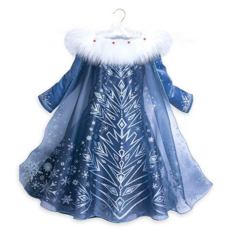 Frozen inspired Elsa Princess costume for Girls with Snow Flake Accessories set