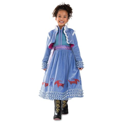 Frozen inspired Anna Princess costume for Girls with Snow Flake Accessories set