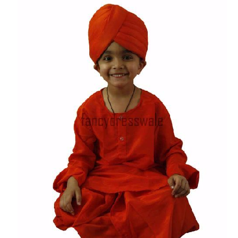 Vivekanand dress for Boys for Fancy dress competitions - Great Personality theme costume