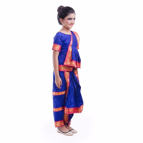 Blue Bharatnatyam Dance Dress