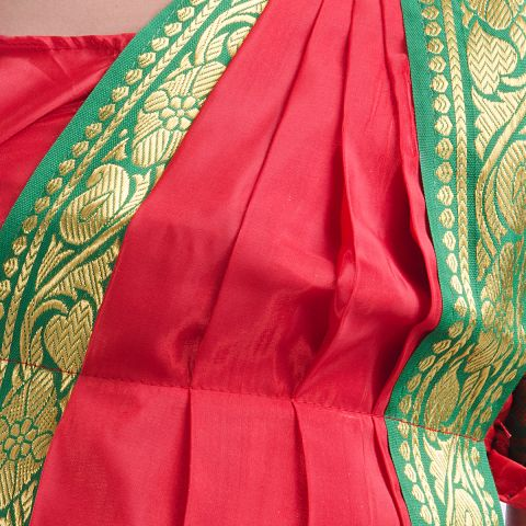 Red Bharatnatyam Dance Dress