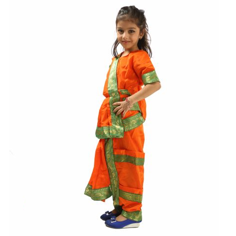 Bharatnatyam Dance Dress Orange