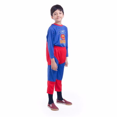 Superman Hosiery Premium Quality dress for boys, Blue
