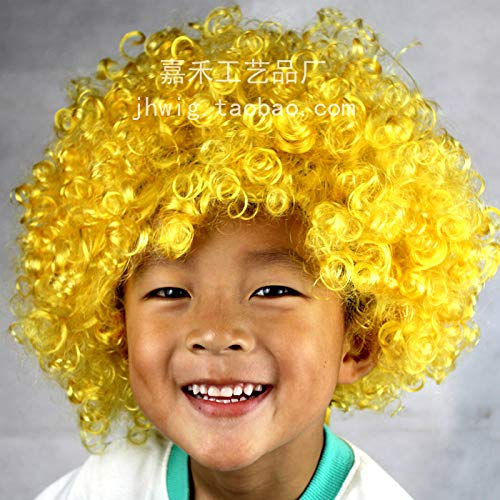 Colorful Unisex Party Prop Wigs for Kids and Adults