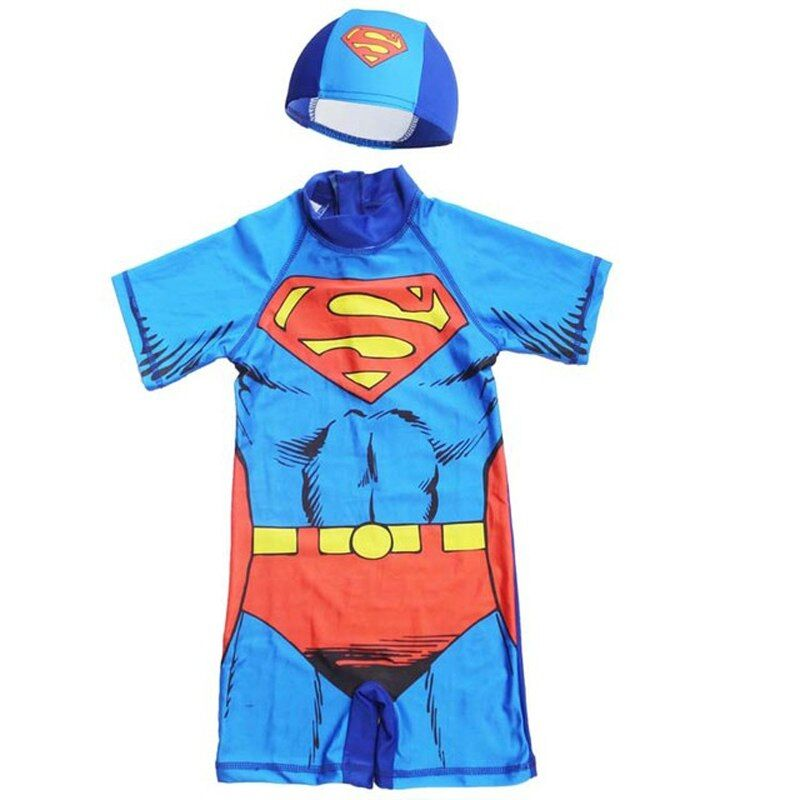Superman Swimming costume for Kids with Cap