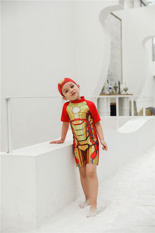 Ironman Swimming Dress for Kids with Cap