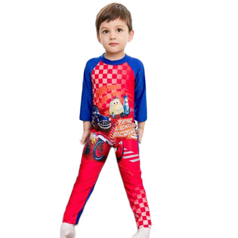 CARs Full Sleeve Superhero Swimming Costumes for Boys & Girls
