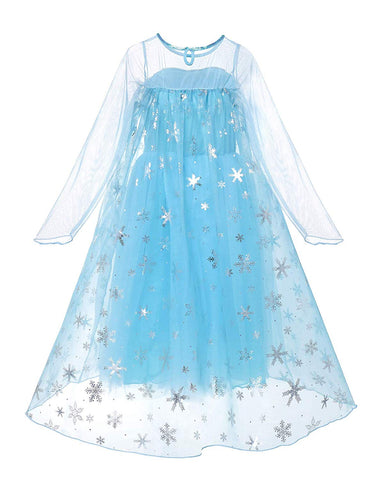 Frozen Elsa Princess costume with 8 pack accessories