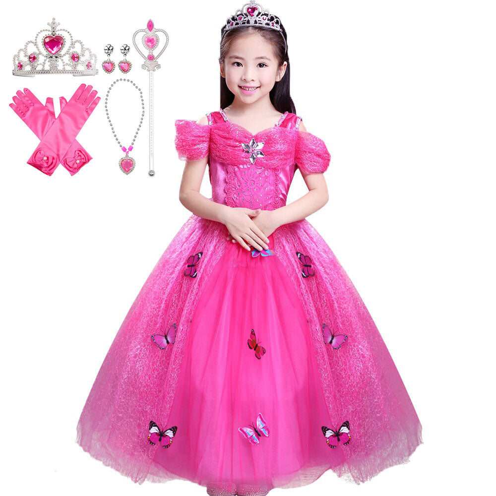 Butterfly Princess Dress with Accessories Set