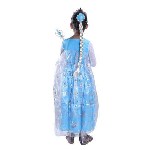 Frozen Princess elsa dress with Accessories