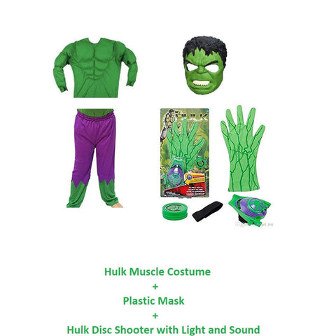 Hulk Muscle costume with shooter and Mask