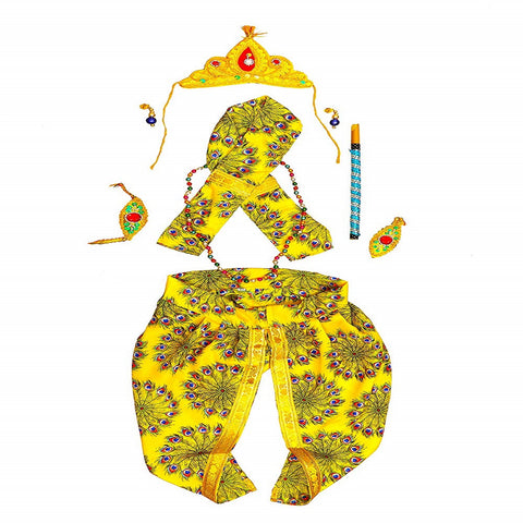 Fancydresswale Krishna Dress for Kids for Janmashtami with Complete Accessories
