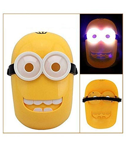 Minion Superhero The Avengers Costume LED Light Eye Mask,
