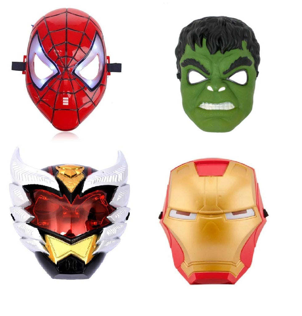 Superhero The Avengers Costume LED Light Eye Mask, Multi- Mix Set of 4 (Assorted)
