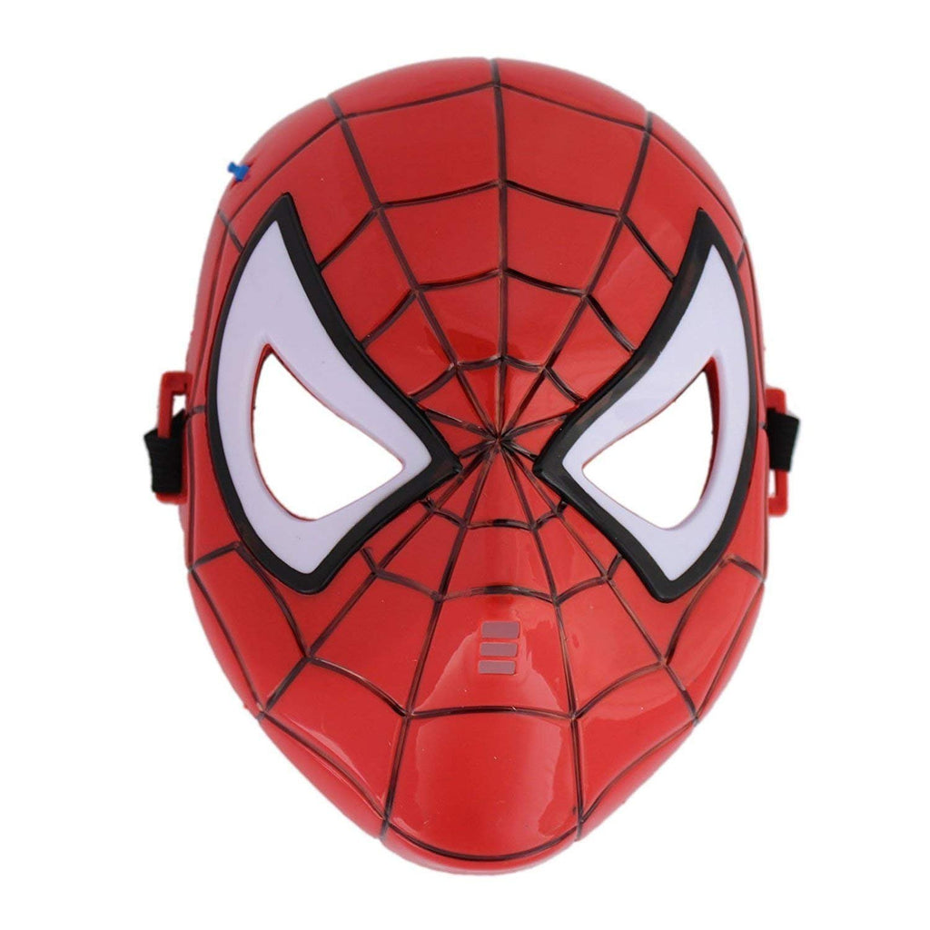 SPIDERMAN Superhero The Avengers Costume LED Light Eye Mask, Red-