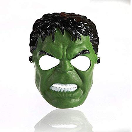 Hulk Superhero Plastic Masks Great Party Favor, Fun, Fiesta, Costume, Halloween, Single, Free Size