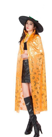 Fancydresswale Halloween Cloak Cape Unisex Adult Role Play Dress up Costume- Orange