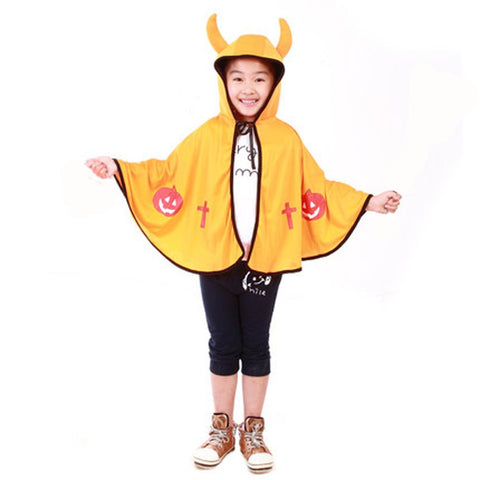 Fancydresswale Children Costumes Pumpkin Style for Halloween and Christmas Sorcerer/Halloween Cloak