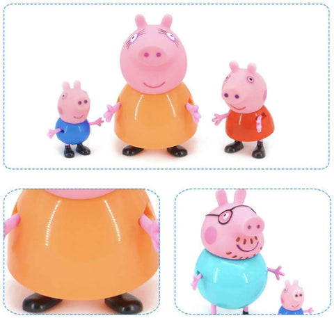 Peppa Pig family of 4 toy set for kids