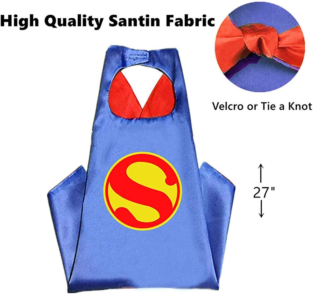 Super Boy Blue Colour Super Hero Cape For Boys