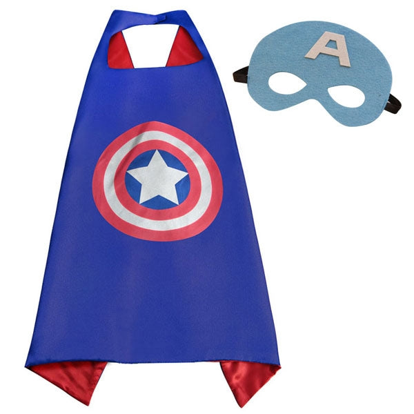 Captain America Super Hero Cape For Boys