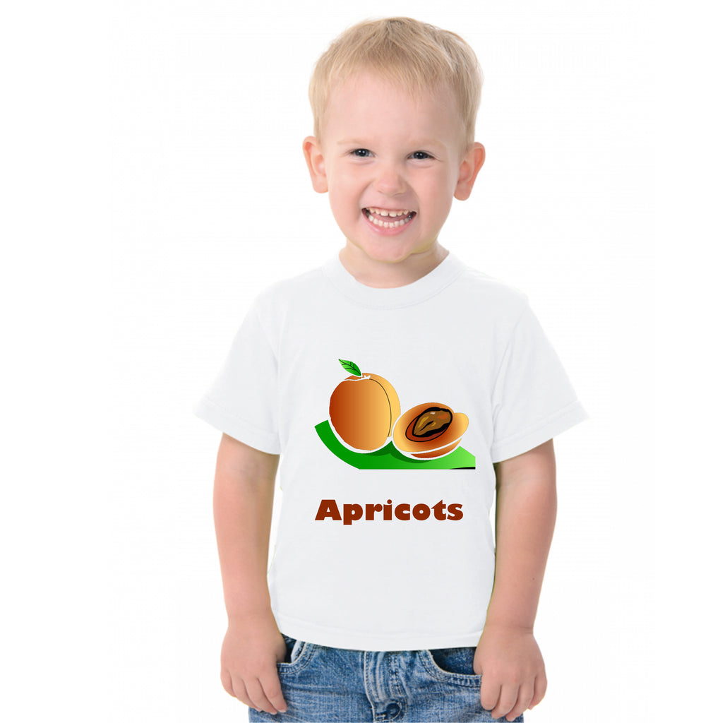 Fruit Theme T-Shirt for Kids Fancy Dress Costume Apricot
