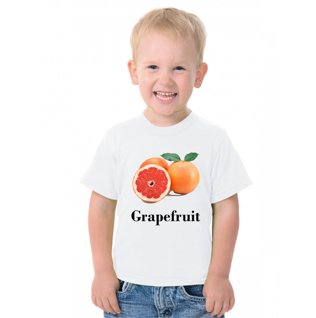 Fruit Theme T-Shirt for Kids Fancy Dress Costume Grape Fruit