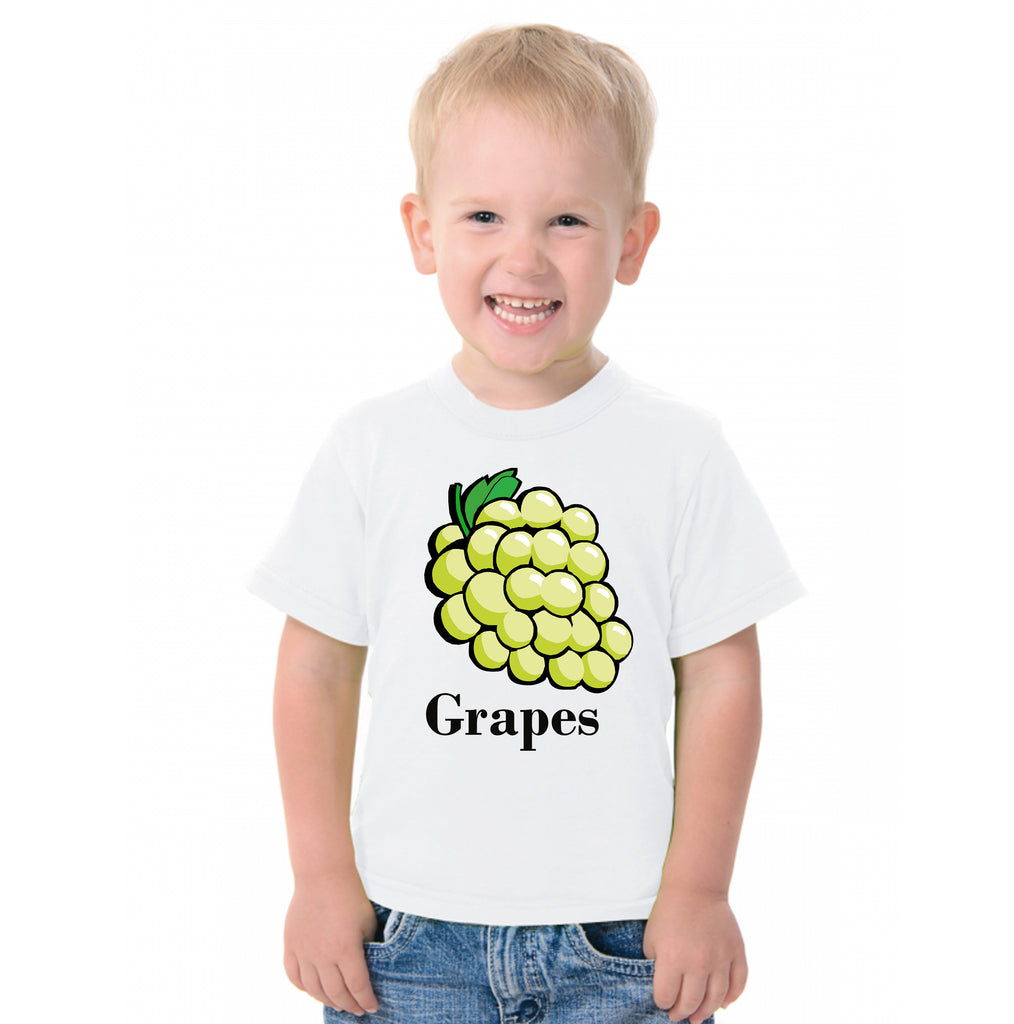 Fruit Theme T-Shirt for Kids Fancy Dress Costume Grapes