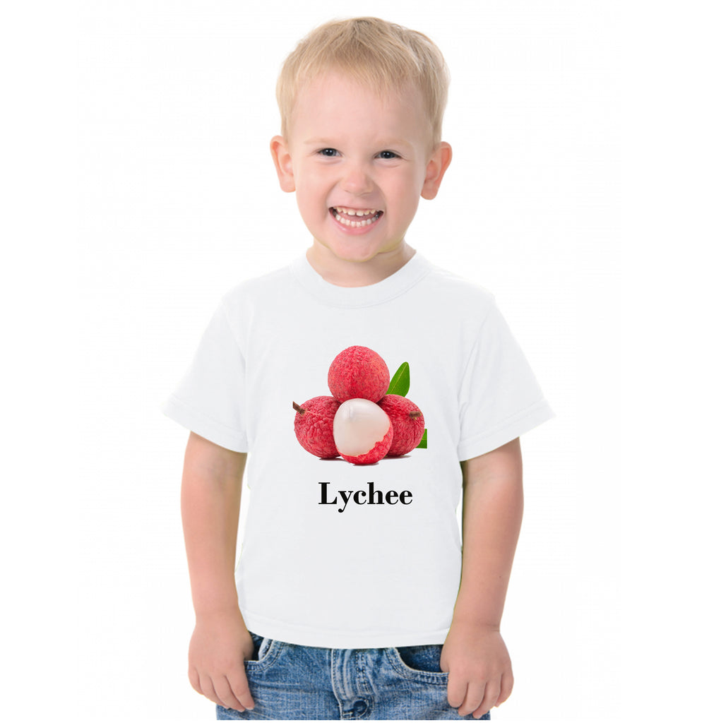 Fruit Theme T-Shirt for Kids Fancy Dress Costume Lychee