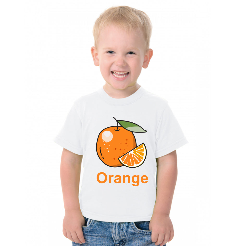Fruit Theme T-Shirt for Kids Fancy Dress Costume Orange
