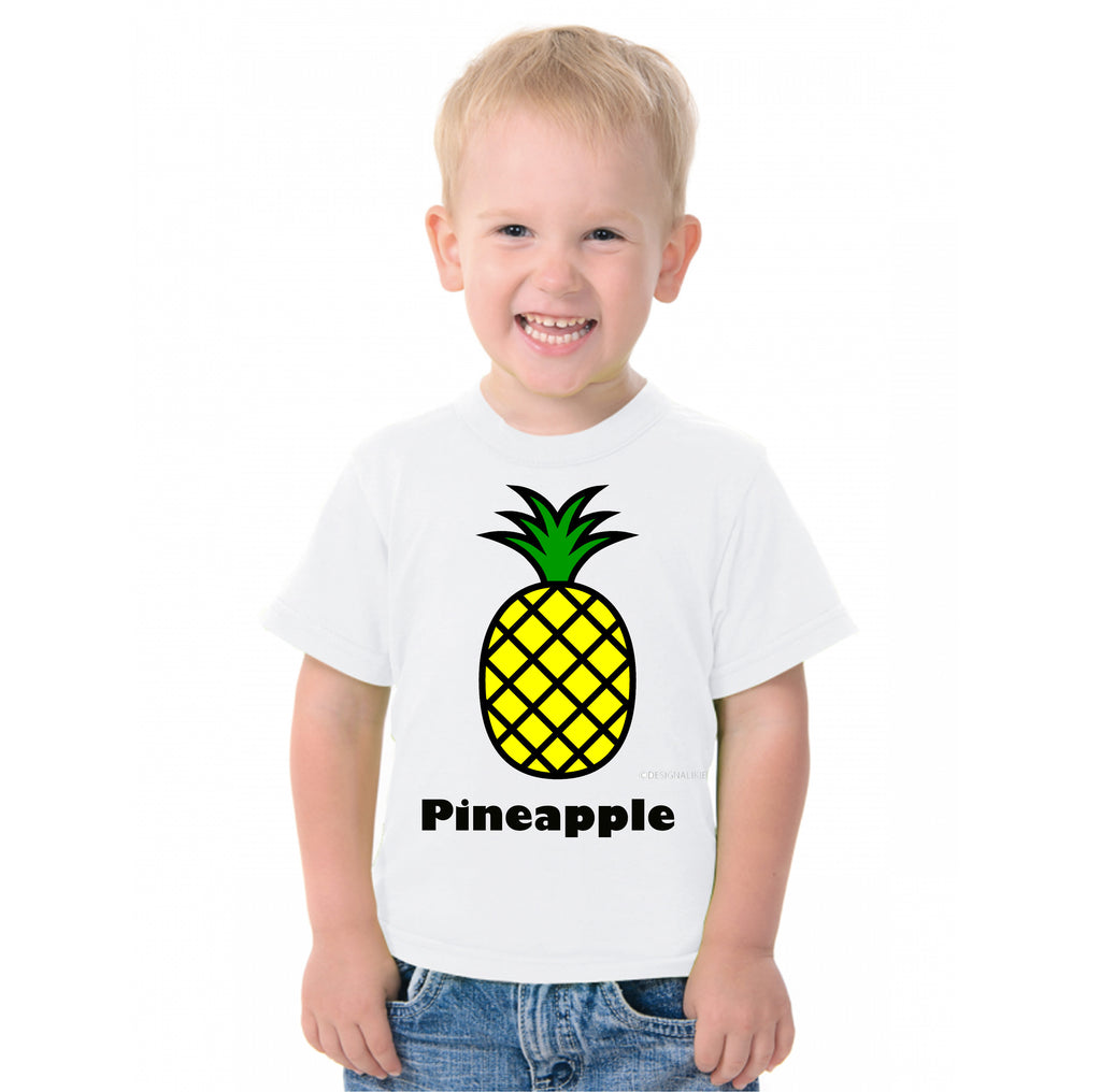 Fruit Theme T-Shirt for Kids Fancy Dress Costume Pineapple