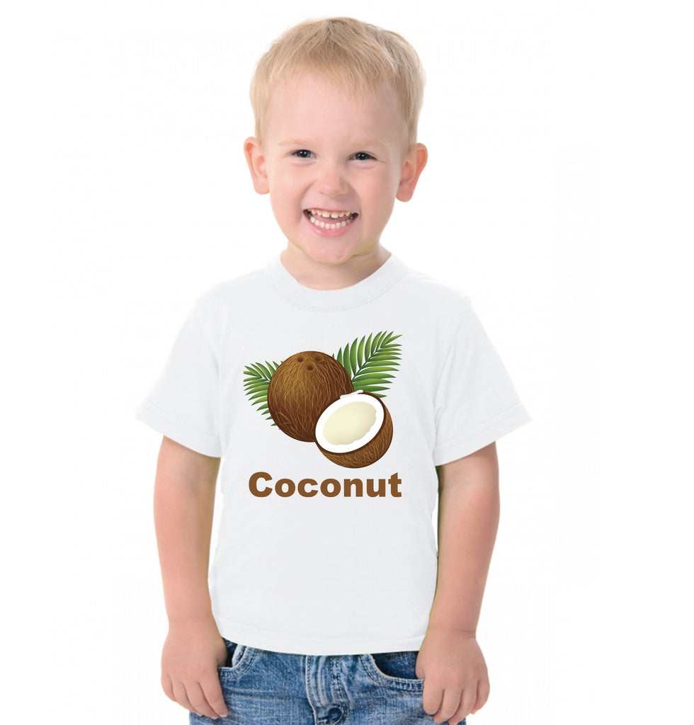 Fruit Theme T-Shirt for Kids Fancy Dress Costume Coconut