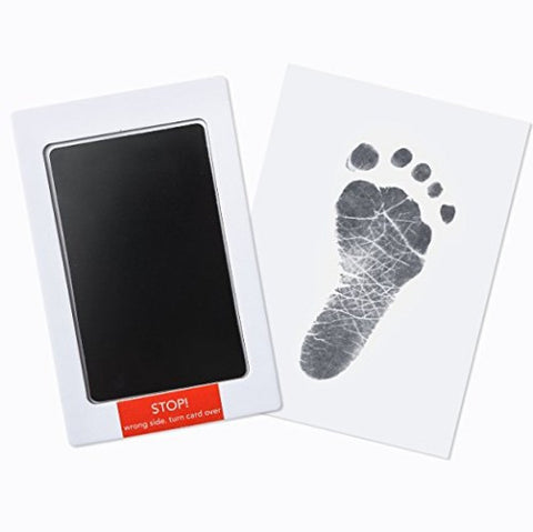 Fancydresswale Inkless 0-12 Months for Baby Handprint and Baby Footprint Ink Pad with Imprint Cards 100% Non-Toxic & Mess Free Safe for Newborn Baby and Toddlers (Black, 0-12 Months)