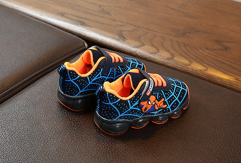 Spiderman Shoes for Kids with Light-Blue