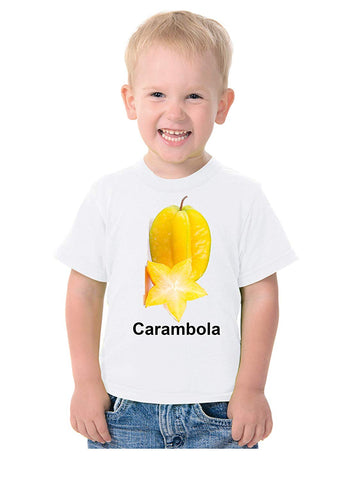 Fruit Theme T-Shirt for Kids Fancy Dress Costume Carambola