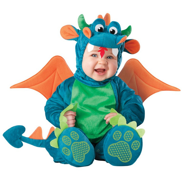 Fancydresswale baby Photography Props Dinosaur Animal Costume Jumpsuit Halloween Cosplay Costume(6 Months -24 Months))